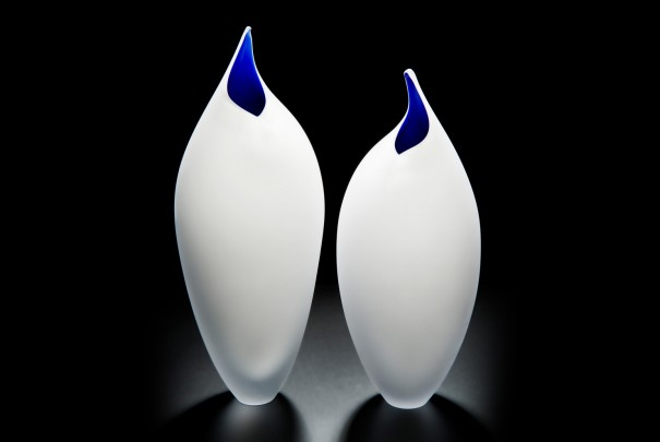 White and Cobalt Birds Image