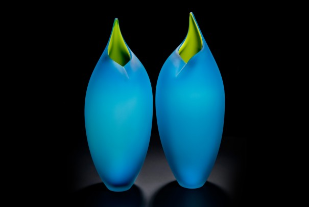 Copper Blue and Lime Birds Image