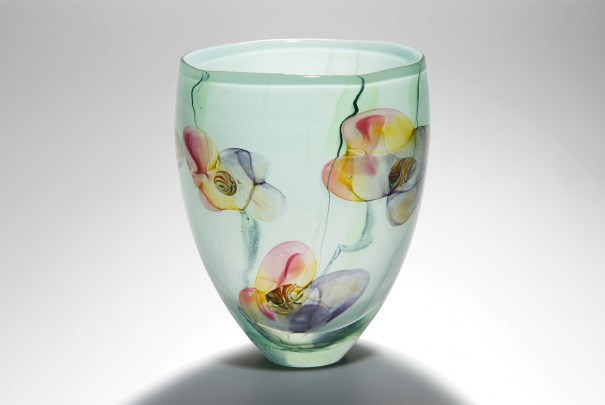 Pink Floral Medium Tall Bowl Image