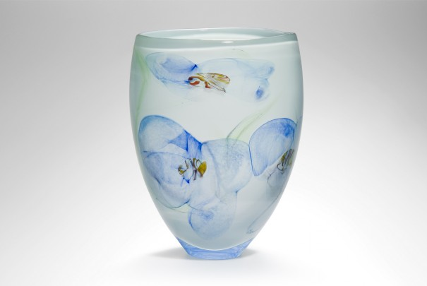 Blue Floral Large Tall Bowl Image