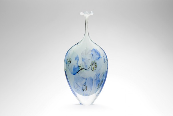 Blue Floral Large Tall Dropper Image