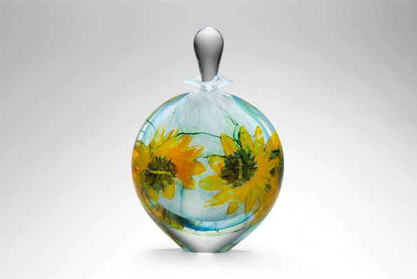 Sunflower Wide Perfume Bottle Image