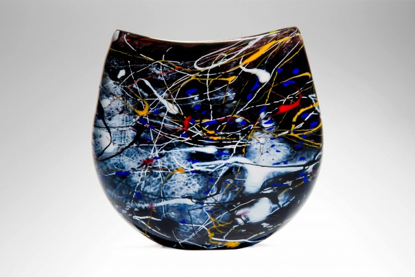 Medium Pollock Flattened Vase Image