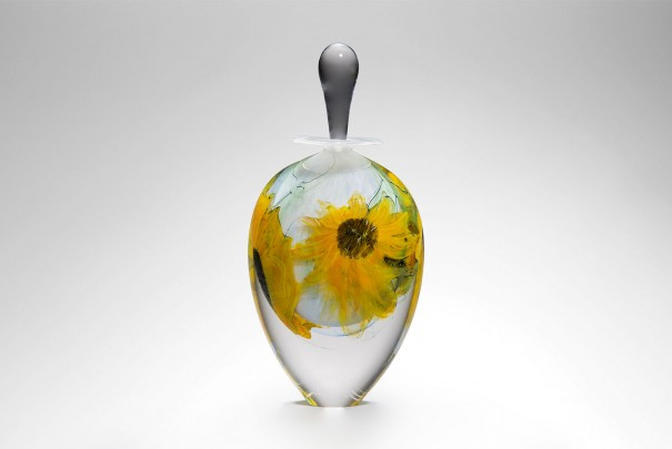 Tall Sunflower Perfume Bottle Image