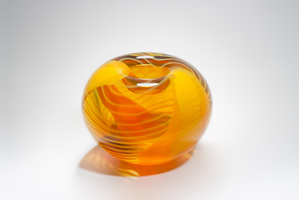 Large Saffron Roll Top Bowl Image