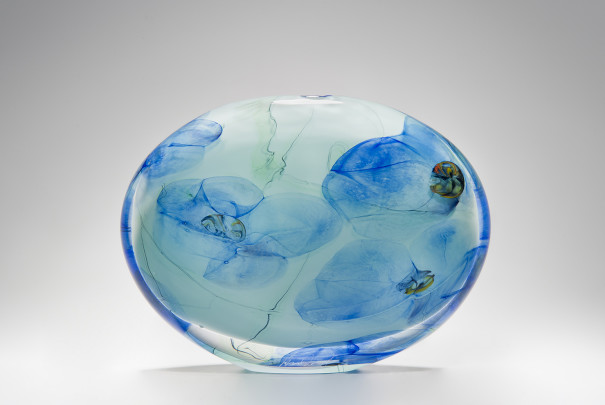 Large Blue Floral Wide Stoneform Image