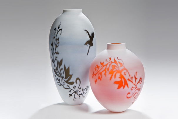 Cameo Series Bronze and Apricot Vessels Image