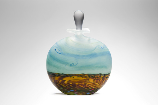Wheatfield Wide Etched Perfume Bottle Image