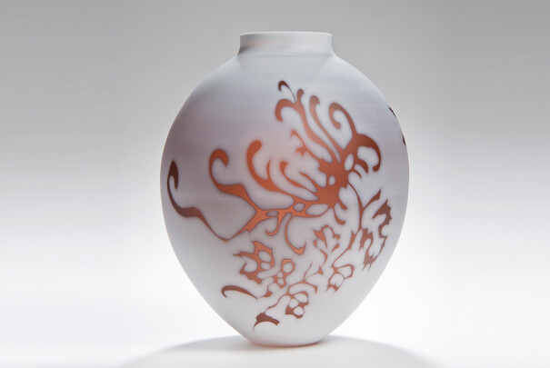 Medium Plum Vessel, Cameo Series Image