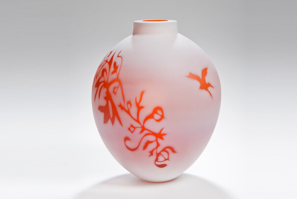 Medium Apricot Vessel, Cameo Series Image