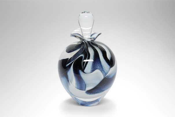 Black Spirale Ovoid Perfume Bottle Image