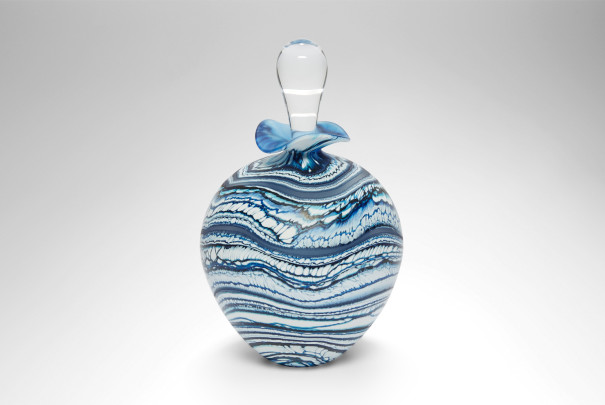 Glacier Blue Ovoid Perfume Bottle Image