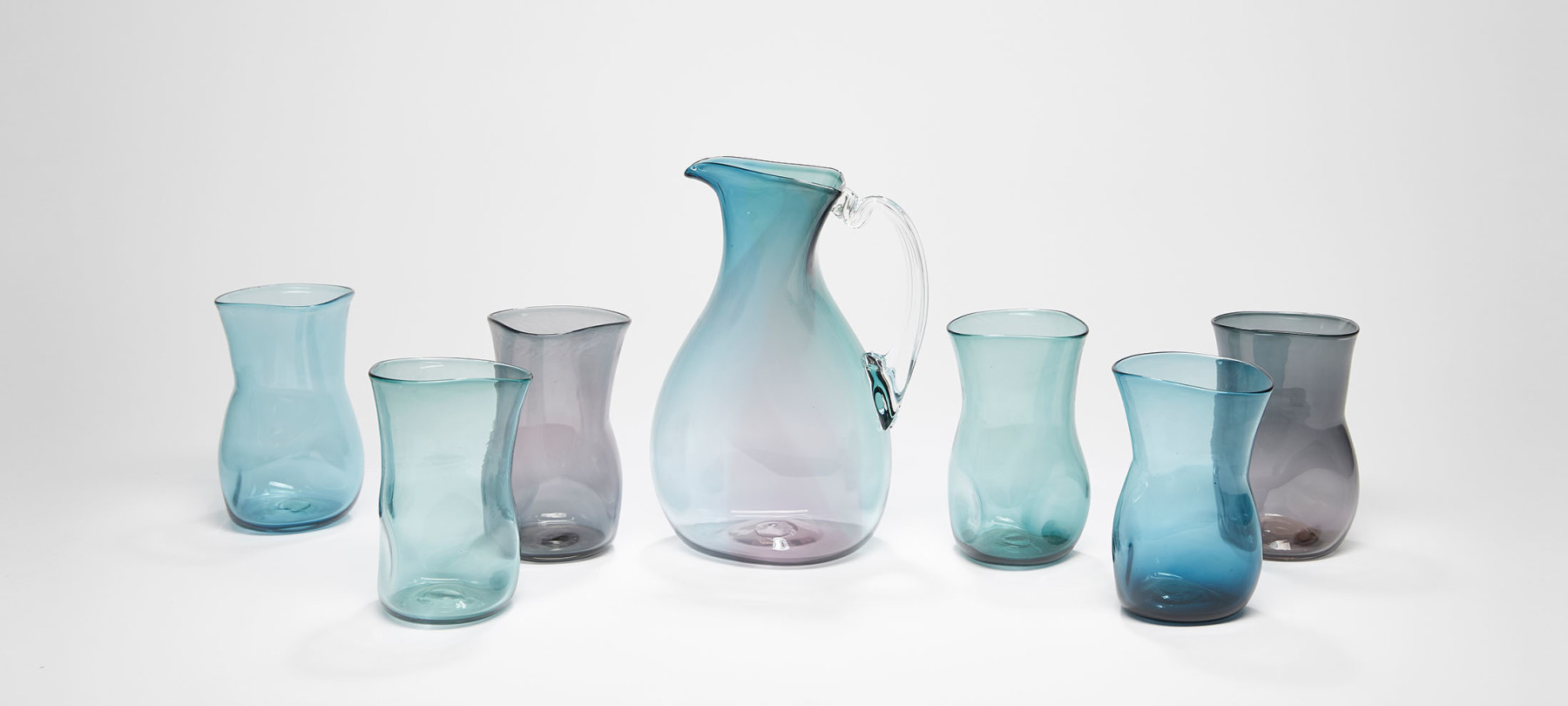 Layne Rowe Blue and Grey Jug and Glasses 2020