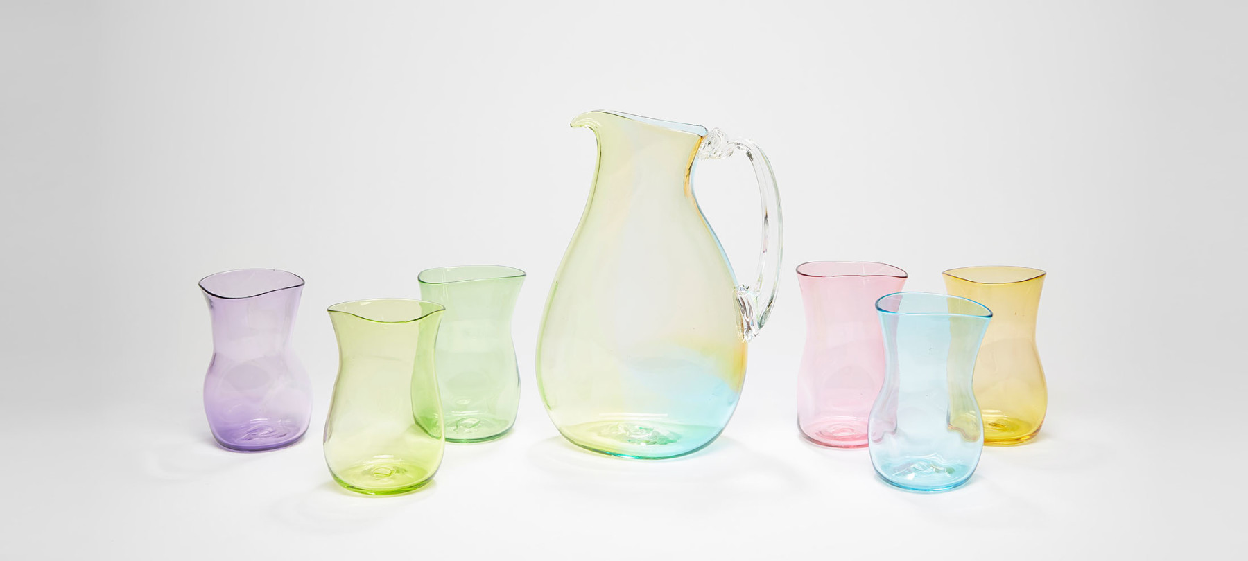 Layne Rowe Rainbow Jug with glasses