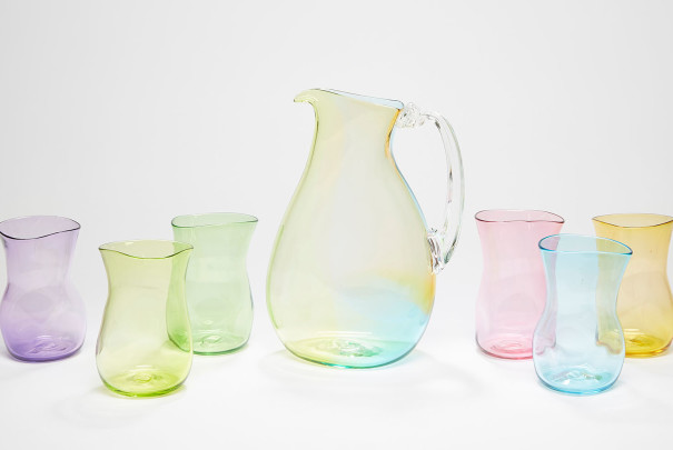 Rainbow Jug and Glasses Image