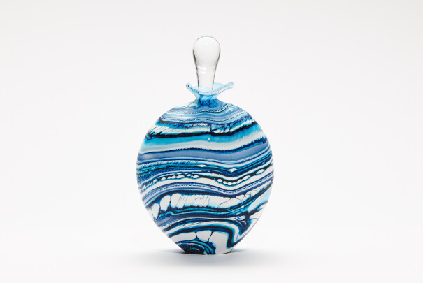 Glacier Blue Wide Perfume Bottle Image
