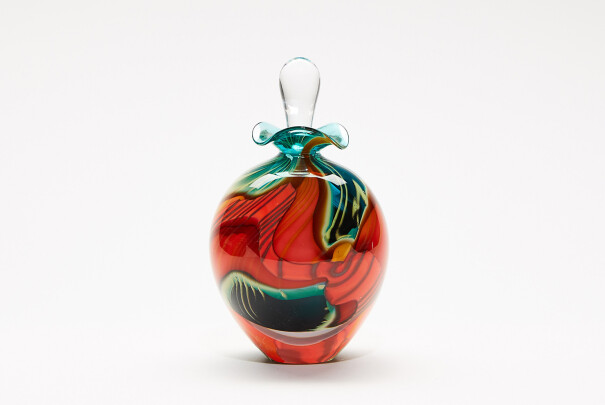 Perfume Bottle Green Paradiso Ovoid Image