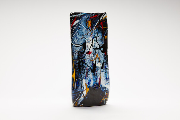Large Pollock Triangular Vase Image
