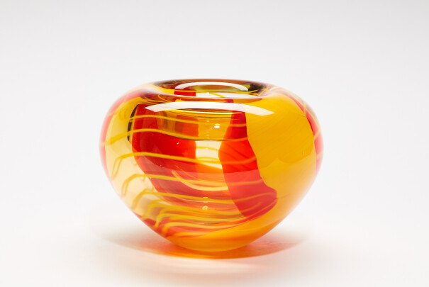 Medium Saffron Roll Top Bowl Image
