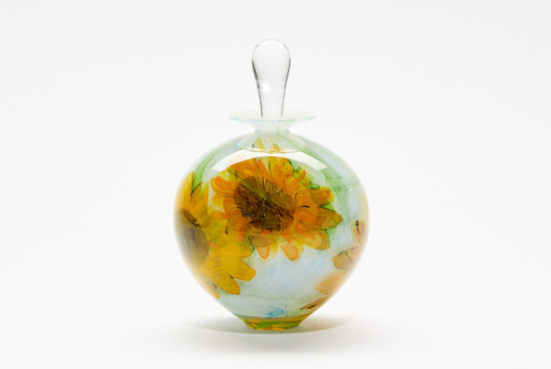 Perfume Bottle Sunflowers Ovoid Image