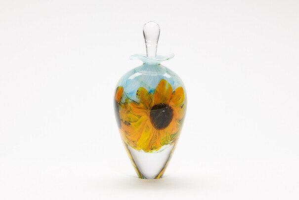 Sunflowers Tall Ovoid Perfume Bottle Image