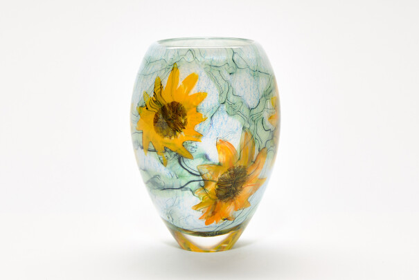 Small Sunflowers Ovoid Vase Image