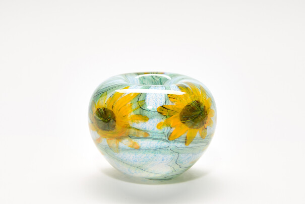 Small Sunflowers Roll Top Bowl Image