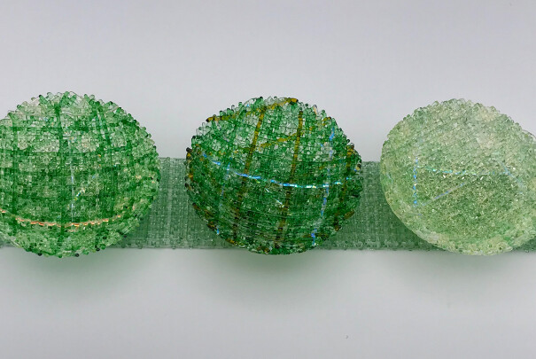 Mini Diorama Bowls on Bases (Light Green/Dark Green on Green) Image