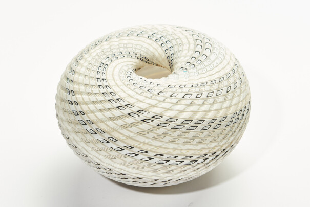 White Woven Medium Basket Image