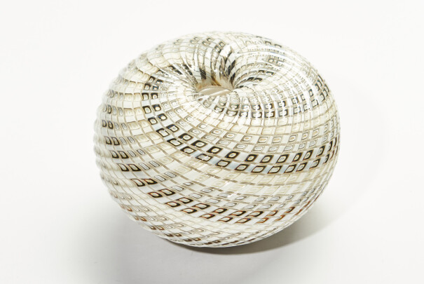 White Woven Small Basket Image