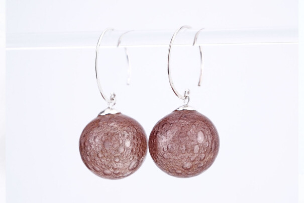 Champagne Earrings in Terracotta Image