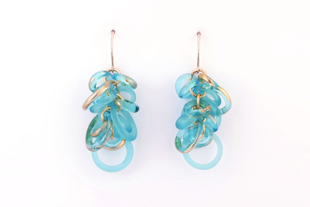 Hoop Earrings in Turquoise Image