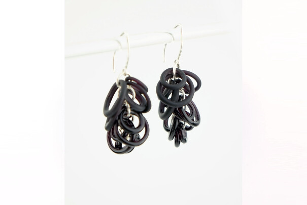 Hoop Earrings in Black Image