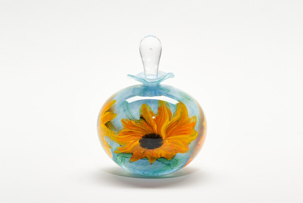 Sunflowers Short Ovoid Perfume Bottle Image