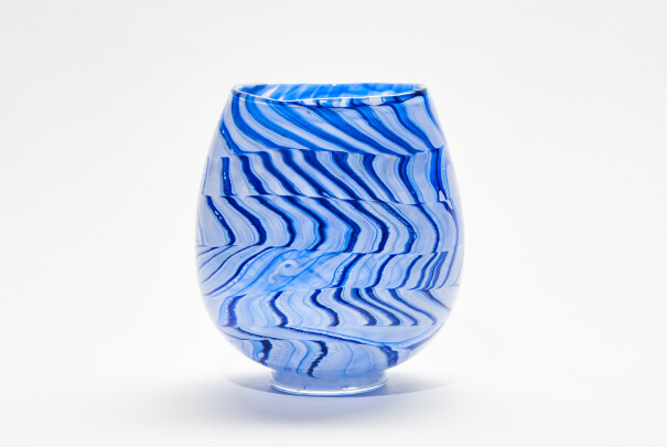 Lot 110 - Shibori Test Medium Open Vase, Peter Layton, Reserve Price £320 Image