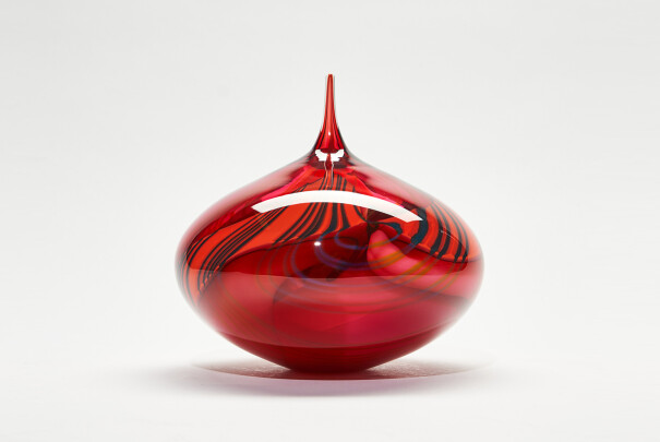 Lot 67 - Pink Paradiso Medium Sphere Dropper, Peter Layton, Reserve Price £470 Image