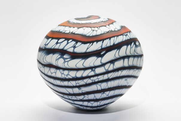 Lot 100 - Amber Glacier One-off Sphere, Peter Layton, Reserve Price £780 Image