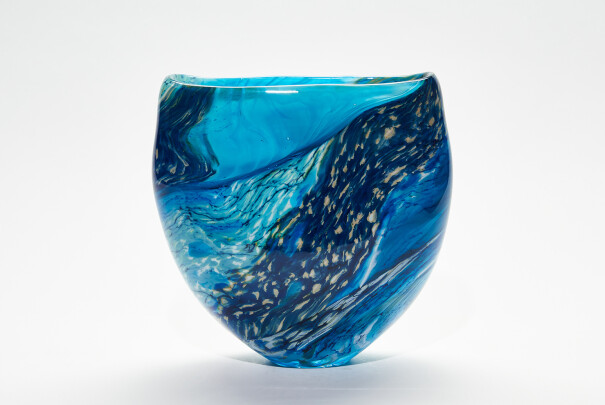 Lot 84 - Wave Large Open Vase, Peter Layton, Reserve Price £740 Image