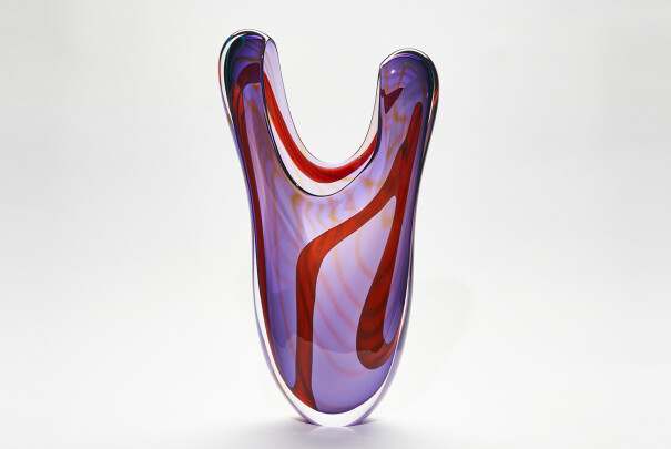 Lot 108 - Purple Paradiso One-off Organic Flared Vase, Peter Layton, Reserve Price £1,600 Image