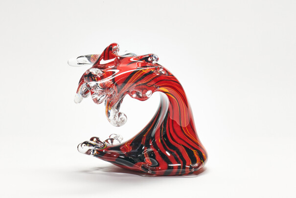 Wave - Red Dancer with Silver Inclusions Image