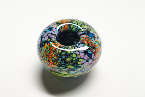 Medium Black Reef Roll Top Bowl Image
