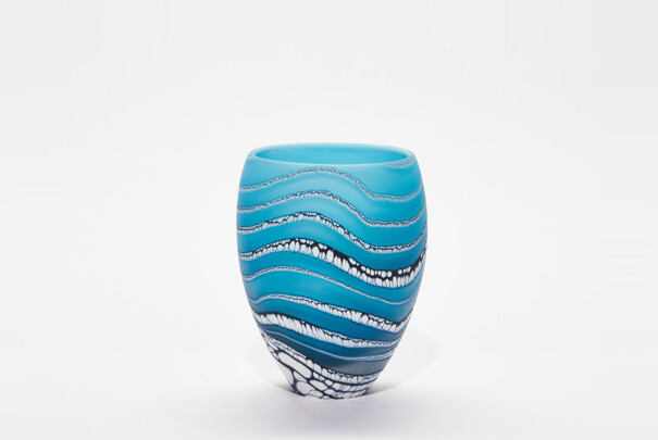 Small Turquoise Glacier Tall Bowl Image
